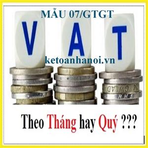 Mẫu 07/GTGT chuyển đổi kỳ kê khai thuế