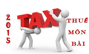 Hướng dẫn thuế môn bài mới nhất 2015