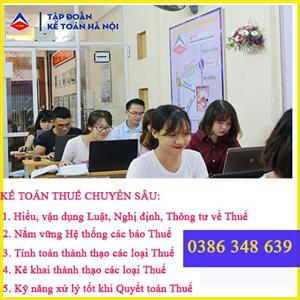 Lớp học kế toán thuế tại Tây Hồ Hà Nội Chuyên nghiệp Uy tín