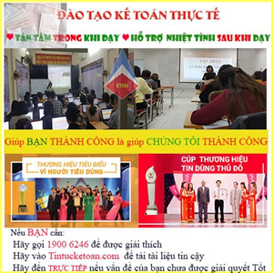 Trung tâm dạy kế toán tổng hợp tại Hà Nội TỐT NHẤT