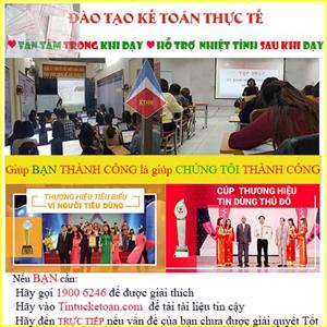 Trung tâm dạy kế toán thuế tại Thường Tín TỐT NHẤT
