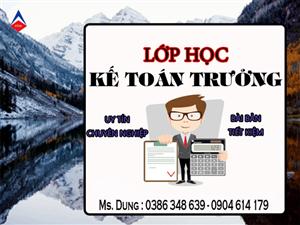 Lớp học kế toán trưởng tại Bắc Giang