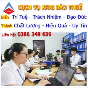 Dịch vụ khai báo thuế tại Tp HCM Chuyên nghiệp Uy tín