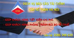 Dịch vụ làm báo cáo tài chính tại Nam Sơn Bắc Ninh
