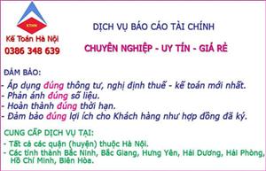 Dịch vụ làm báo cáo tài chính tại Thuận Thành Bắc Ninh