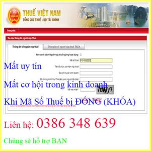 Dịch vụ mở lại mã số thuế nhanh, Đúng hạn, giá rẻ - Kế Toán Hà Nội