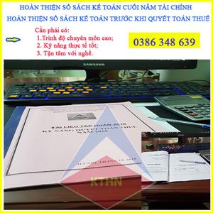 Dịch vụ làm lại sổ sách kế toán tại Ba Đình - Quyết toán thuế