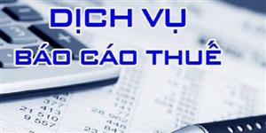 Dịch vụ báo cáo thuế GIÁ RẺ ở Tp HCM