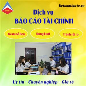 Nhận làm báo cáo tài chính tại Bắc Ninh GIÁ RẺ, CHẤT LƯỢNG