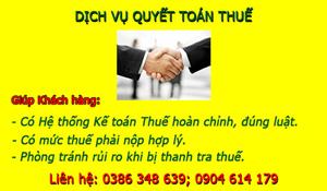 Dịch vụ quyết toán thuế cuối năm tại Quế Võ UY TÍN