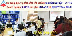 Bảng giá dịch vụ làm báo cáo tài chính tại Bắc Ninh