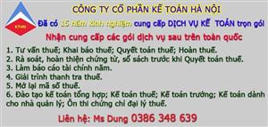 Dịch vụ kế toán trọn gói tại Yên Phong CHẤT LƯỢNG TỐT