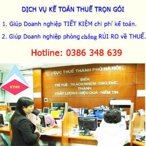 Dịch vụ kế toán thuế trọn gói tại Kiến An Hải Phòng CHẤT LƯỢNG