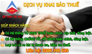 Dịch vụ kê khai thuế tại Dương Kinh Chuyên nghiệp Uy tín